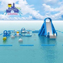 New aqua park giant inflatable floating water park with slides