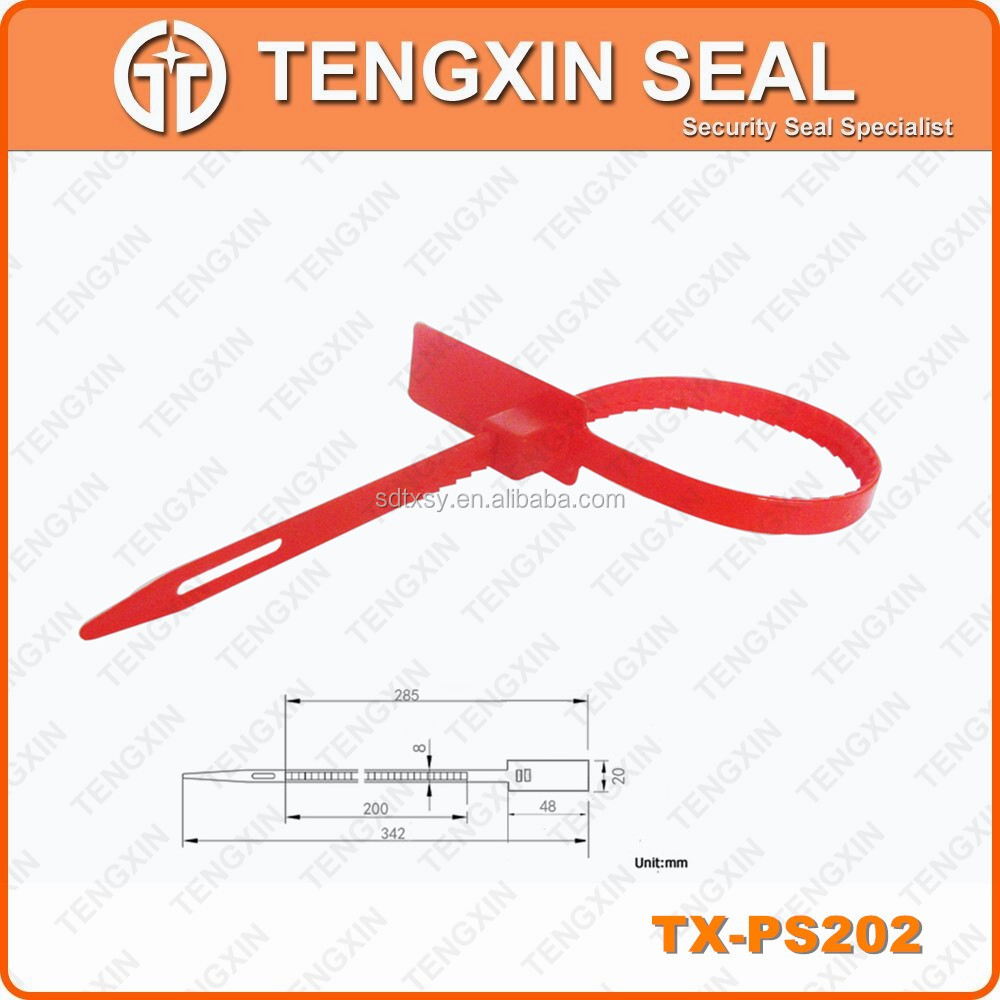 TX-PS202 Durable pull-tight cable seal stainless steel seal nylon security seal