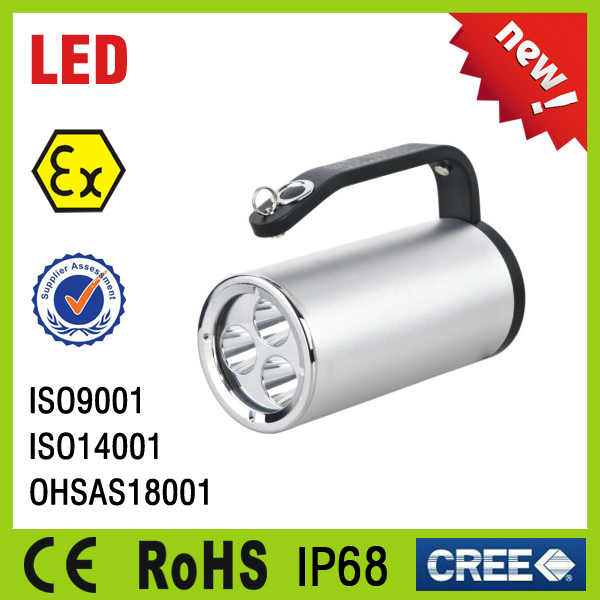 IP67 hazardous rechargeable led explosion proof inspection light