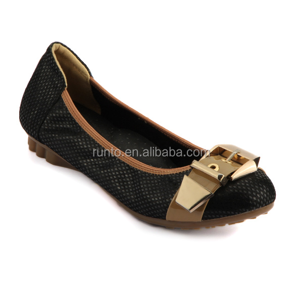 wholesale factory women fashion casual shoes soft sole leather shoes with waterproof outsole