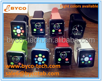 Fashionable design GPS sim card touch screen camera smart watch mobile phone