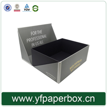luxury custom sliver gold stamping box for gift packaging with triangle lid