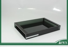 Plastic acrylic bathroom amenity tray with Cover