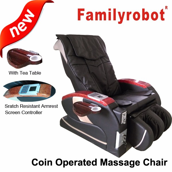New Luxury GSM Credit Card Commercial Coin Token Massage Chair/Coin Operated Massage Chair