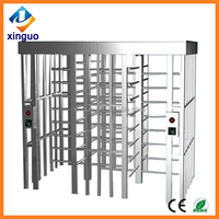 Security full height turnstile gate/door access control system