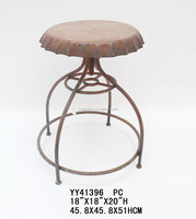 Creative beer cap design metal turning chair;Revolving metal stool in beer cap design