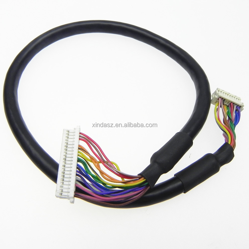 Both end Molex 51021-0600 connector lvds wire cable for computer