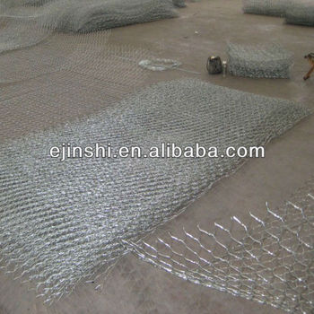 80*100 hexagonal galvanized gabion mesh for protecting river bank