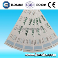 Indicator chemical Card for Steam Sterilization Monitoring