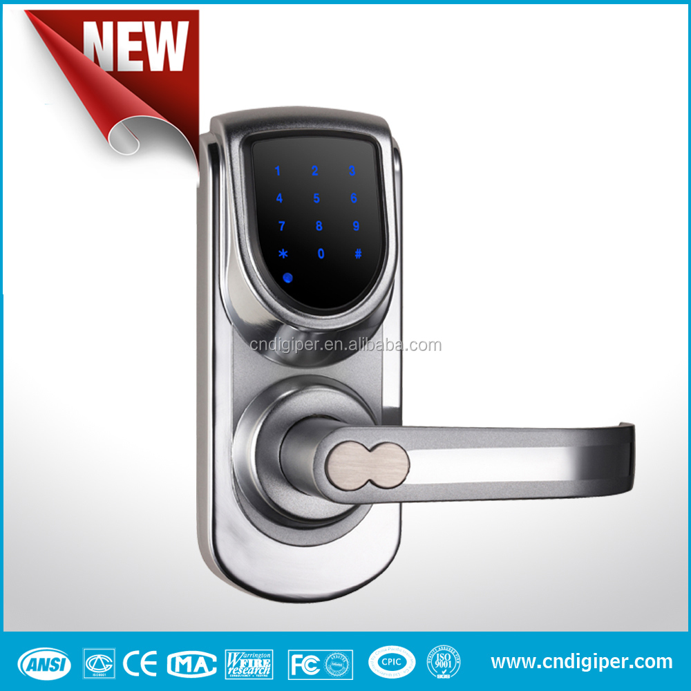 6600-101A Wireless Touch Screen Electronic Keypad Code Door Lock with Override Key