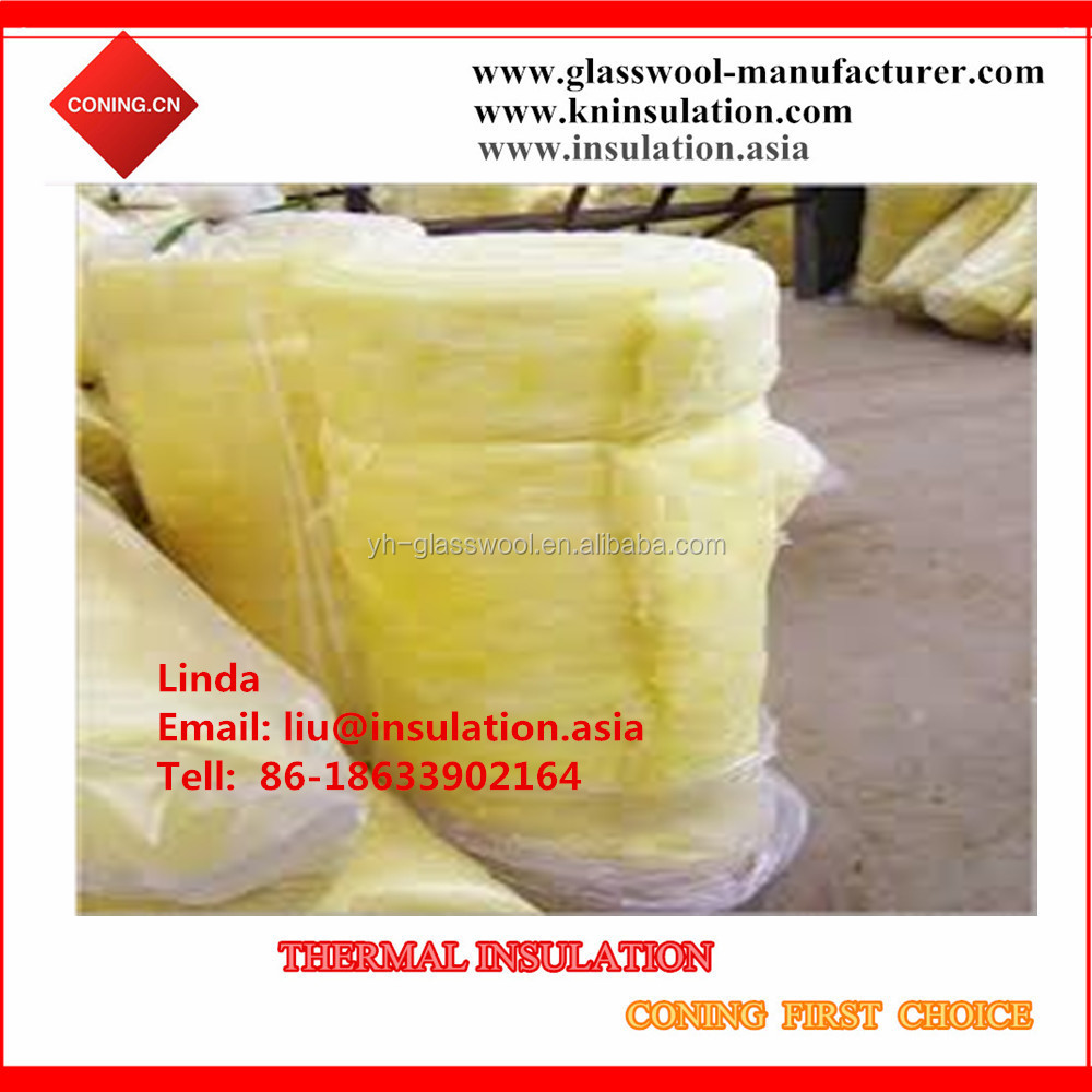 Low price 50mm thick roof insulation fiber glass wool