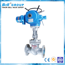 made in china cast steel electric gate valve with flange connection
