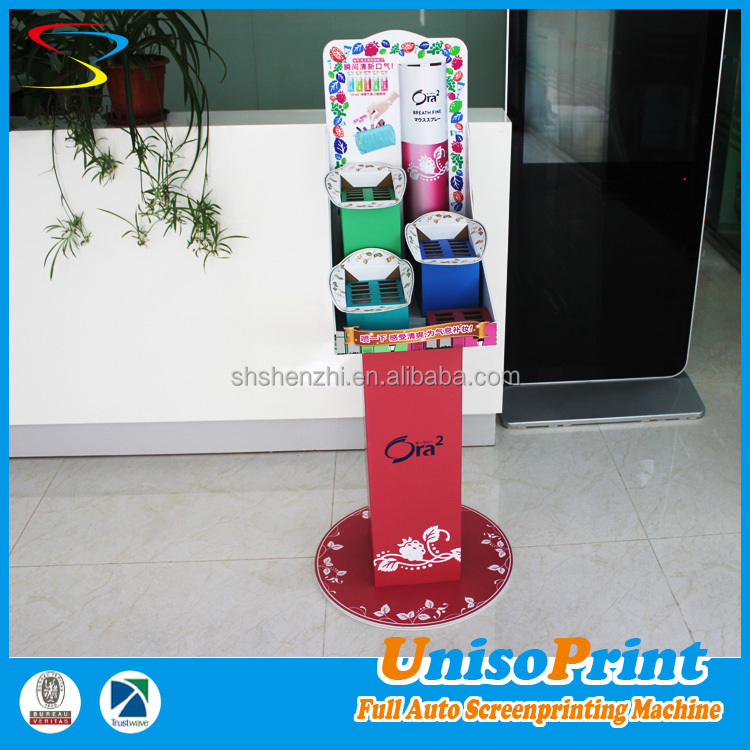New innovative products foldable up makeup mac cosmetic display stand