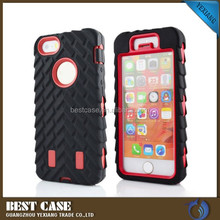 high quality silicone+pc mobile phone case for iphone 4 4s with screen protector