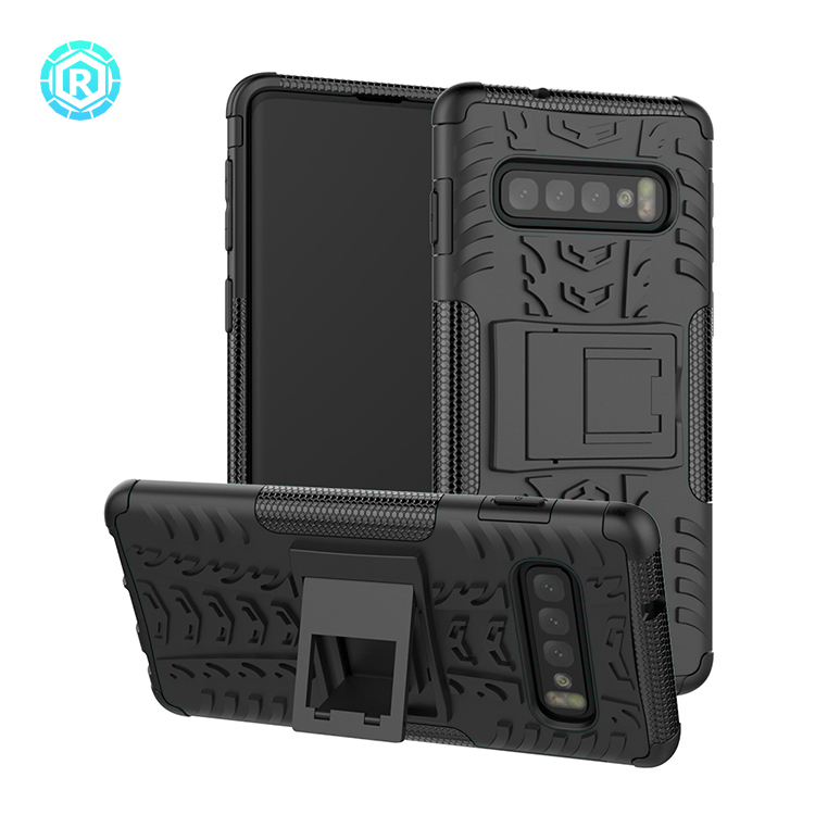 shockproof cover case for samsung s10 hybrid phone cover case for samsung s10 tpu+pc material for Samsung s10