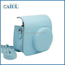 Fujifilm instant camera mini8 / 8+ Blue Color Camera Case Bag PU Leather bag for instax