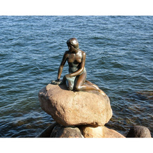 Famous bronze mermaid sculpture reproductions