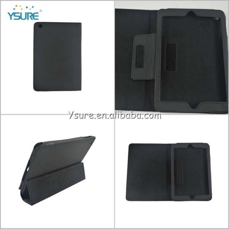 2014 New arrival Cross Pattern Book Style Stand Leather Wallet case for ipad mini 2