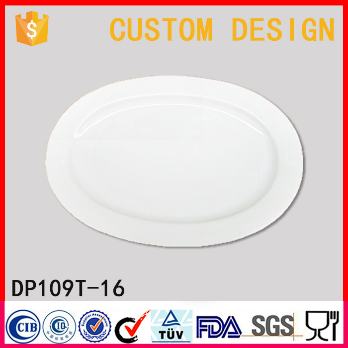 Factory direct wholesale 16 Inch oval porcelain platters