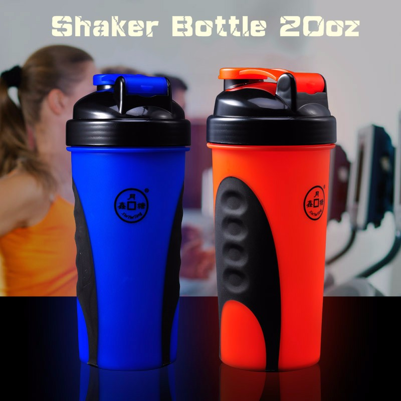 Protein Shaker Lid: 600ml Shaker Bottle With New Lid,Shaker Cup With Different