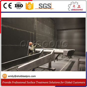 Multi-function Mechanical Sandblasting Room for Steel Construction