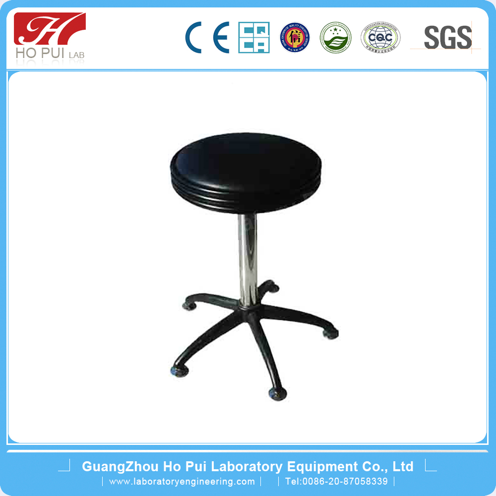 Blue Round Bar Lab Fittings Movable Modern Lab Stool With PU Cushion