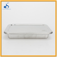 stainless steel hospitality catering food tray with cover