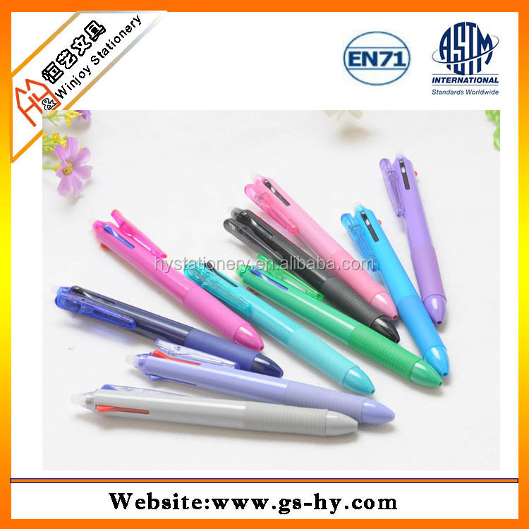 New multifunction stationery advertising erasable ball pen