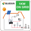 Bluesun 1000w on-grid portable solar power systems kit for home use