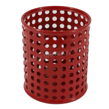 Factory directly fashion heart shape office shool child home cup style custom metal mesh pencil pen holder