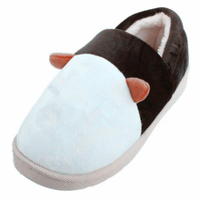2017 Fashion Bedrooms Winter Cute Animal Fur Children Slippers For Boy