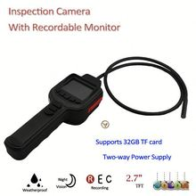 "420TVL 2M IR Snake Inspection commercial security camera with 2.7"" TFT Monitor, Support Max. 32GB TF Card"