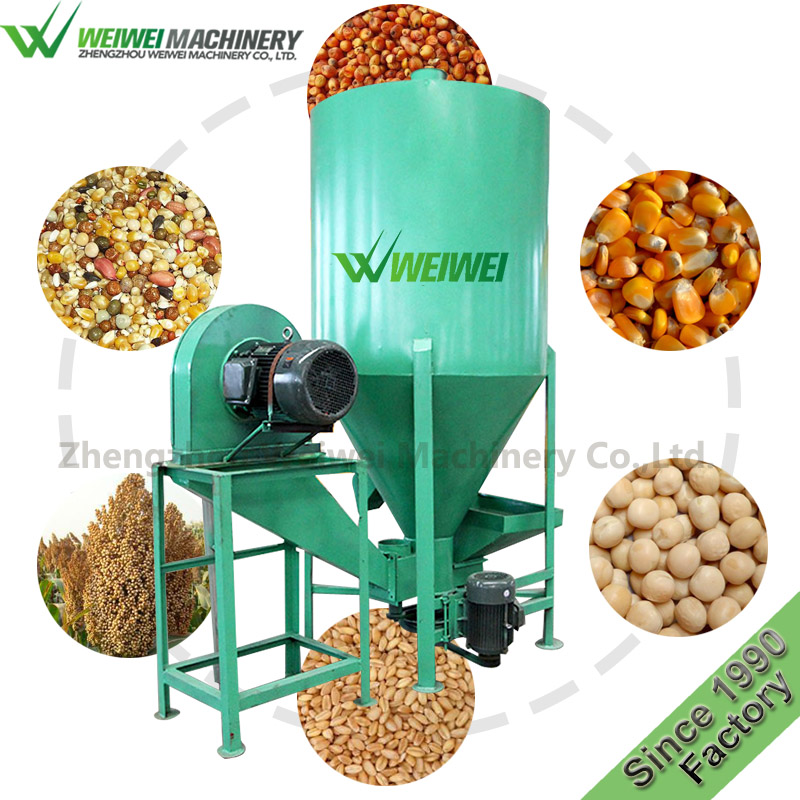 Weiwei animal feed poultry and fish machine floating grain grinder mixer