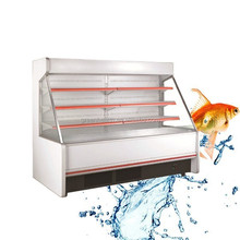 Multifunctional vegetable display chiller / commercial cooler open top / supermarket multideck showcase