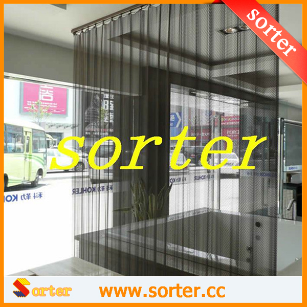 luxurious metal mesh fabric curtains/metal coil drapery for room dividers