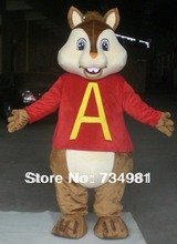 HI EN71 party mascot alvin chipmunk costume for adult