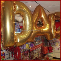 40inch 30 inch available letter alphabet foil balloon