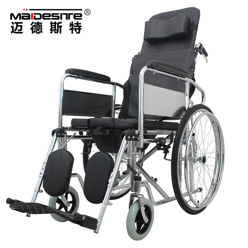 2017 high back manual wheel chair with hand ring