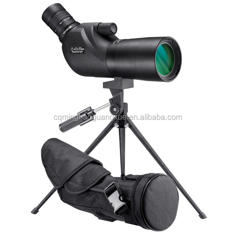 Minghao HD Monocular Telescope 15-45x Outdoor Bird Watching Camping Spotting Scope With Tripod
