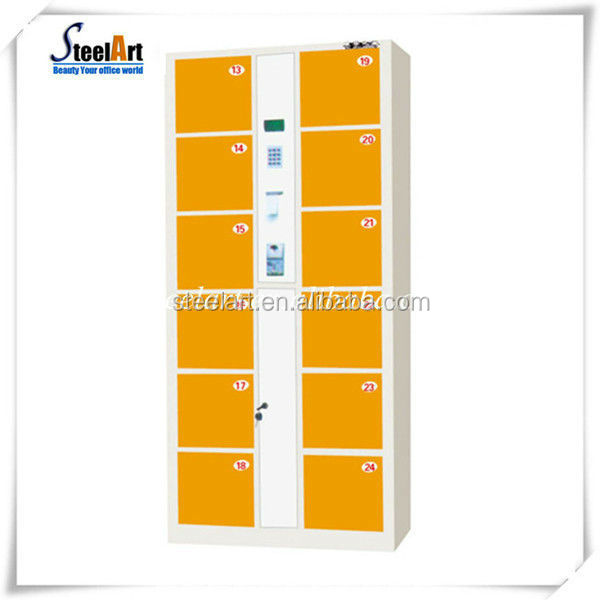 12 door, 24 door , 36 door design electronic locker for supermarket use