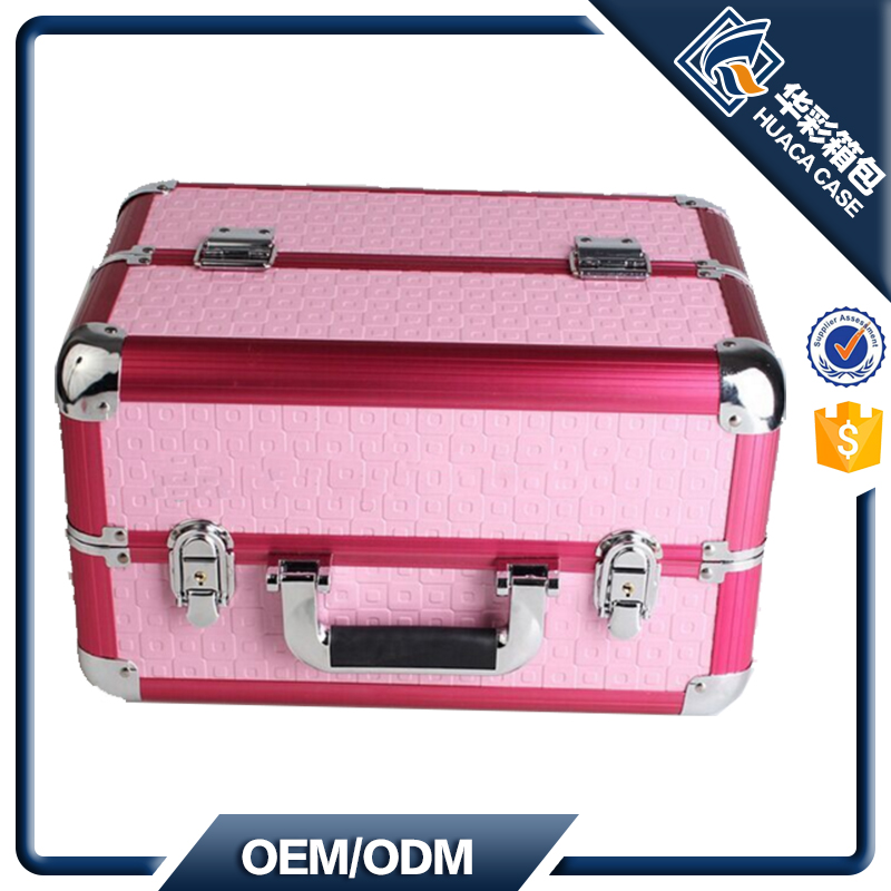 Aluminum Cosmetic Case with Trays inside HCHZ-005 OEM Acceptable