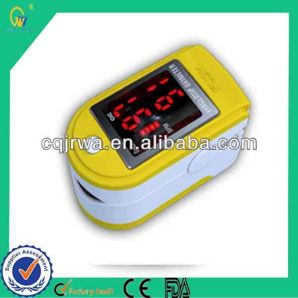 Analysis Software Yellow Hand-Held Fingertip Pulse Oximeter