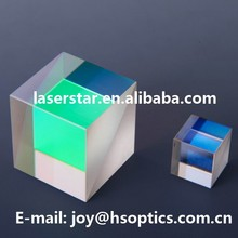 Optical BK7 Fused silica glass polarizing cube beamsplitters