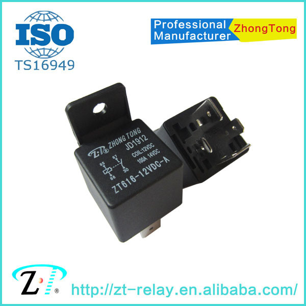 12v 24v 4pin 5pin 80a 100a PCB auto relay JD1912/1914 JD2912/2914 Toyota type relay with diode