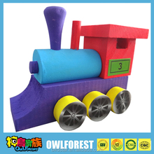 DIY toys wooden Locomotive
