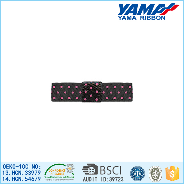 Strong impact resistance poor hygroscopicity polyester bow polka dot grosgrain ribbon hair bows