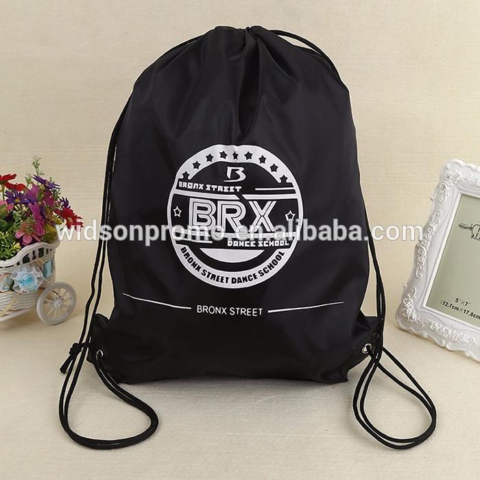 backpack black color gym bag drawstring new arrival