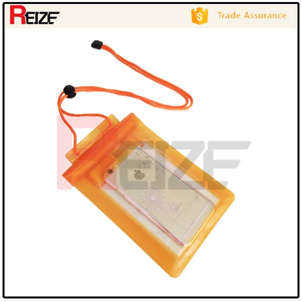 Promotional Clear PVC waterproof cell phone pouch for iphone 6