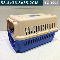 Soft plastic dog kennel cage with four sides ventilation window