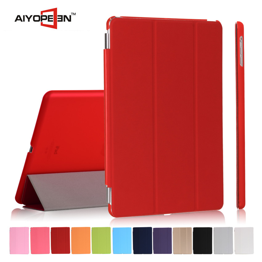 fashion and cool PU smart case for iPad air1/air2 folded 3 styles for ipad air 2 smart back cover